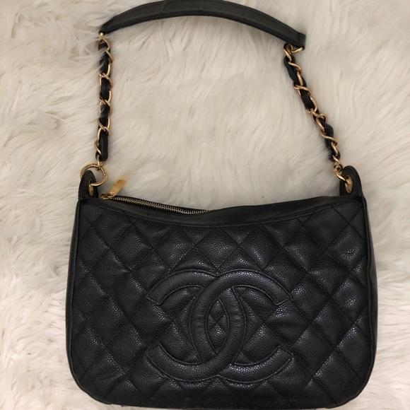 CHANEL Handbags - AUTHENTIC Chanel Caviar Timeless Shoulder Bag